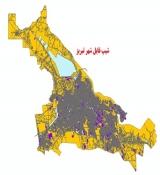شیپ فایل کاربری اراضی شهر تبریز