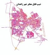 شیپ فایل معابر شهر زاهدان